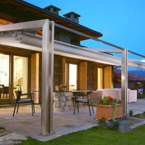 Aluminium Pergola from Corradi – Millenium design brings the outside in…
