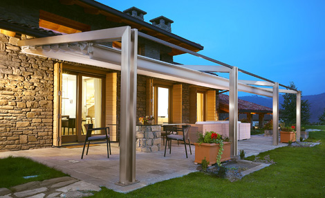 corradi pergola millenium 1 Aluminium Pergola from Corradi   Millenium design brings the outside in…