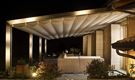 corradi pergola millenium 2 Aluminium Pergola from Corradi   Millenium design brings the outside in…