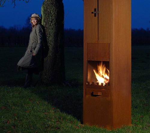 corten steel fireplaces zeno 1 Corten Steel Fireplaces by Zeno