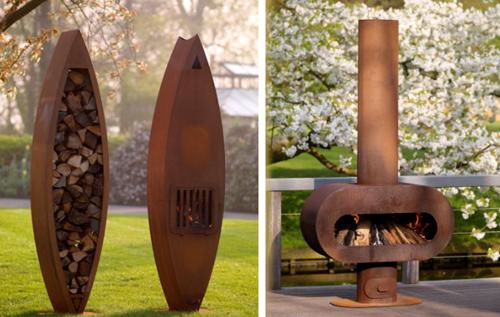 corten steel fireplaces zeno 2 Corten Steel Fireplaces by Zeno