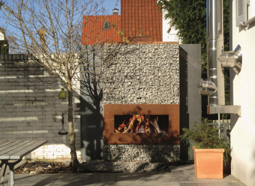 Corten Steel Fireplaces By Zeno