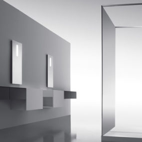 Zen Like Bathroom collection from Cosmic – the Upgrade minimalist bathroom with hidden controls