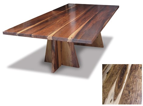 costantini luca wood table Exotic Wood Dining Tables by Costantini Design