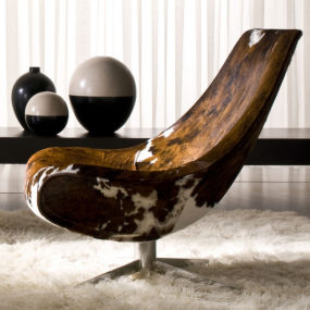 Cowhide Lounge Chair by Italy Dream Design – Oyster