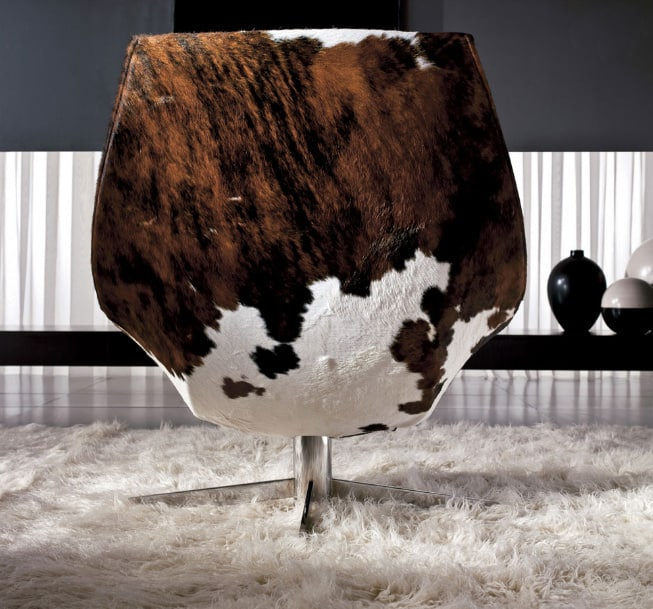 Superbe View In Gallery Cowhide Lounge Chair By Italy Dream Design Oyster 2 Thumb  630x587 16297 Cowhide Lounge Chair By