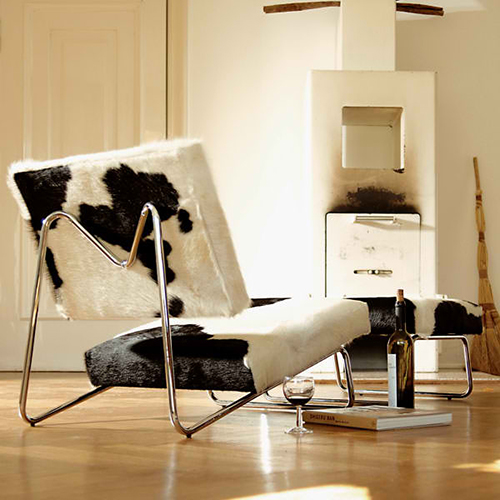 cowhide lounge chair herbert hirche 1 Cowhide Lounge Chair by Herbert Hirche