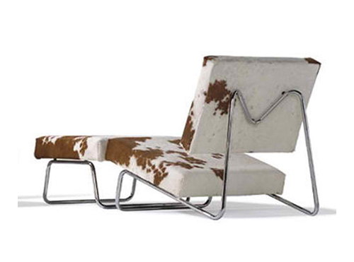 cowhide lounge chair herbert hirche 2 Cowhide Lounge Chair by Herbert Hirche