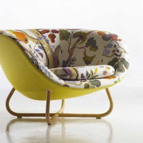 Cozy Fabric Upholstered Armchair Yasmin from Erik Jorgensen
