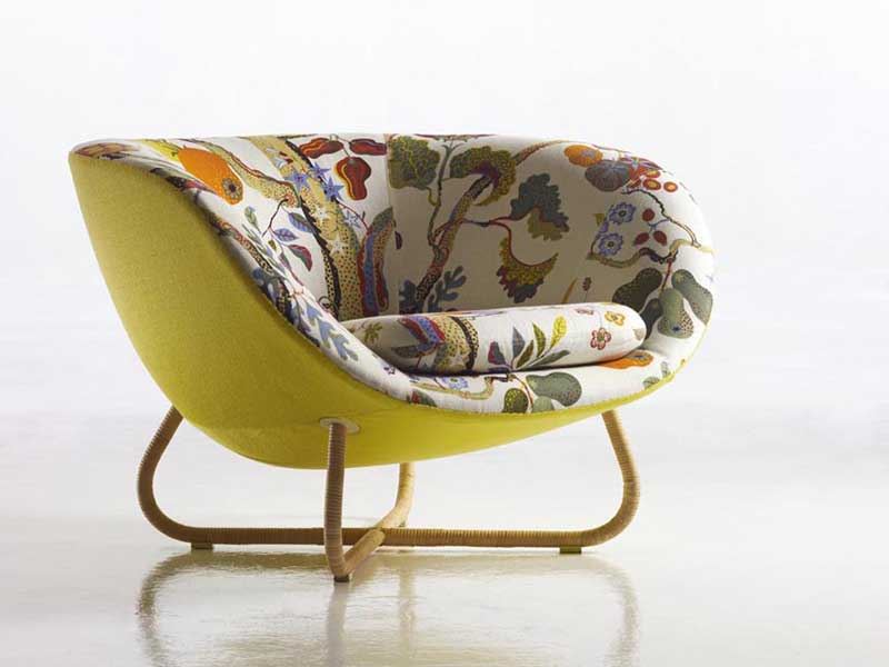 Nice Cozy Fabric Upholstered Armchair Yasmin From Erik Jorgensen