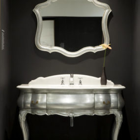 Argento Vanity and Mirror from CP Hart – an Italian antique replication