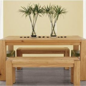 Big Sur Dining Table from Crate & Barrel – all natural wood dining table set