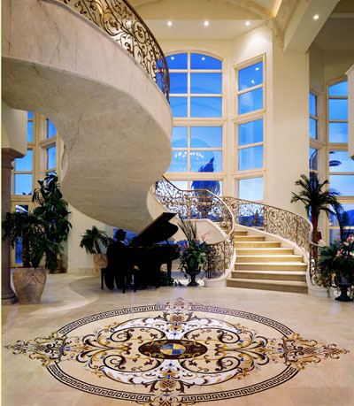 creative edge stone medallions Custom stone medallions from Creative Edge   the natural stone decorative flooring