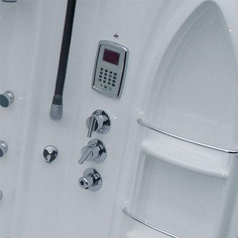 crescent steam shower control panel Hydromassage Bathtub & Steam Shower by Di Vapor   the Crescent shower module