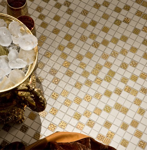 crisdesign tiles feel 3 1 Luxury Italian Tile from Cris Design   tiles with gold & platinum detailing