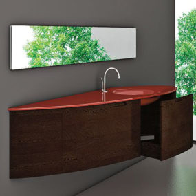 Teardrop Shape Vanity Oder from Cristalquattro