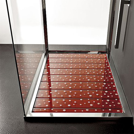 cristalquattroshower Contemporary Shower Base by Cristalquattro   rectangular shower tray with glass slats