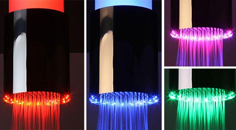 Sandwich shower lamp colors