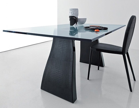 crocodile leather table chairs compar trend 1