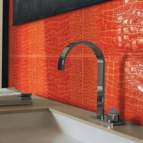 Crocodile Skin Tiles in Color by Petracer