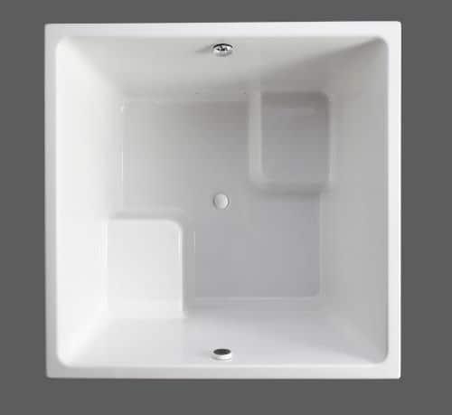 cube bathtub underscore bubbleMassage kohler white 2 Cube Bathtub   new Underscore Cube BubbleMassage Bath by Kohler