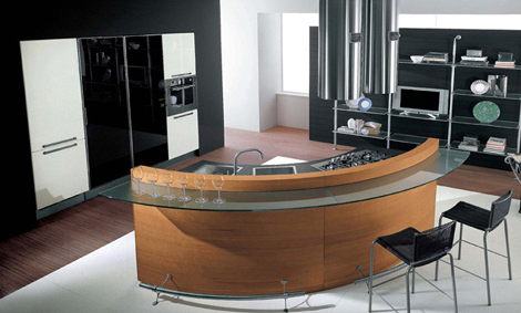 cucine lube kitchen katy 1 Contemporary kitchen by Cucine Lube   Katy rounded kitchen design