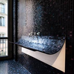 Curved Bathroom Sink in Mosaic Tile – Skin by Lago