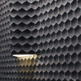 Curved Wall Tiles by Lithos – new Favo Curve