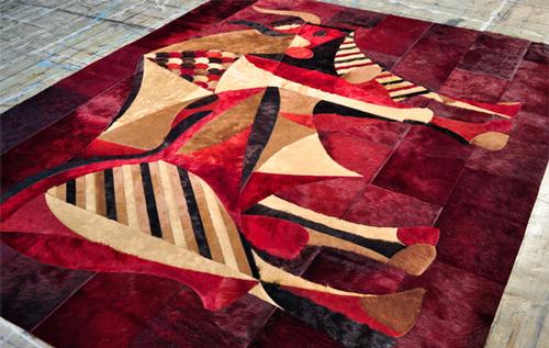 custom rugs kyle bunting 2 Custom Cowhide Rugs by Kyle Bunting