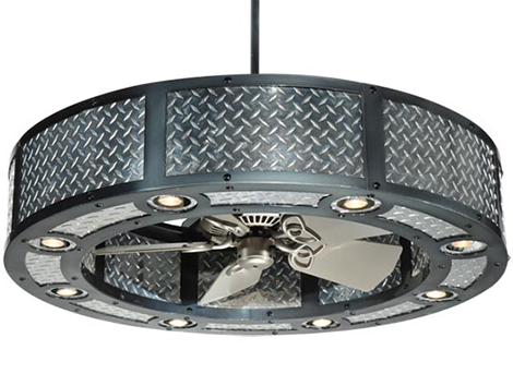 customizable fan chandelier meyda lighting 1 Chandelier With Fan by Meyda Lighting
