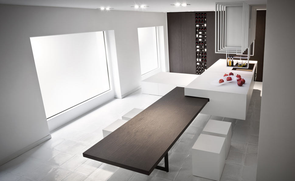 four techno savvy kitchens. Black Bedroom Furniture Sets. Home Design Ideas