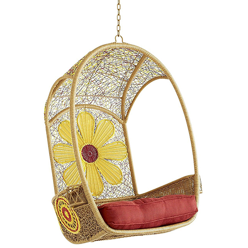 cute colorful garden hanging chair daisy pier 1 1