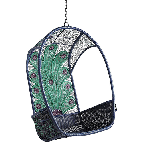 cute colorful garden hanging chair peacock pier 1 2 Cute and Colorful Garden Furniture by Pier 1