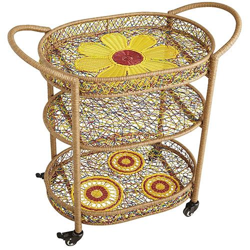 cute colorful garden serving cart daisy pier 1 5