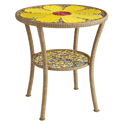 cute colorful garden side table daisy pier 1 4