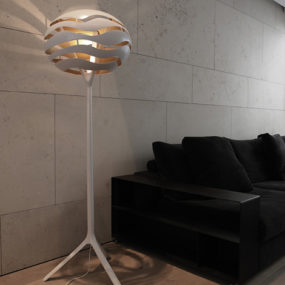 Torchiere Floor Lamp with Unusual Shade by Dab – Tree