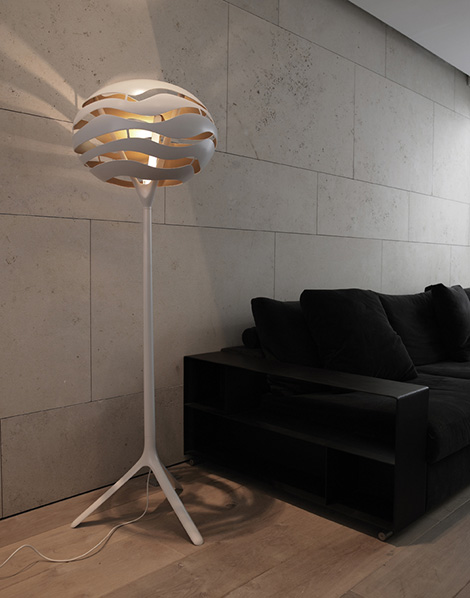dab lamp tree 2 Torchiere Floor Lamp with Unusual Shade by Dab   Tree