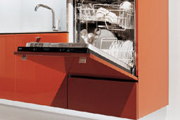 dada kitchen nuvola dishwasher Contemporary Kitchen from Dada   the Nuvola suspended Kitchen