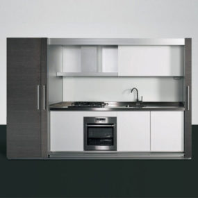 Enclosed mono-block kitchen design from Dada – the Tivali compact kitchen