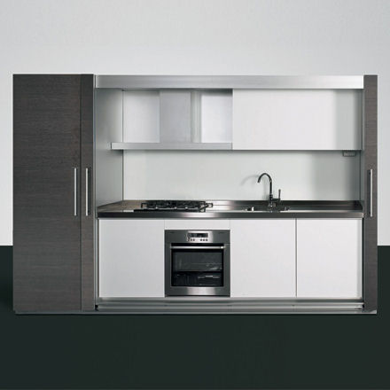 dada tivali kitchen Enclosed mono block kitchen design from Dada   the Tivali compact kitchen