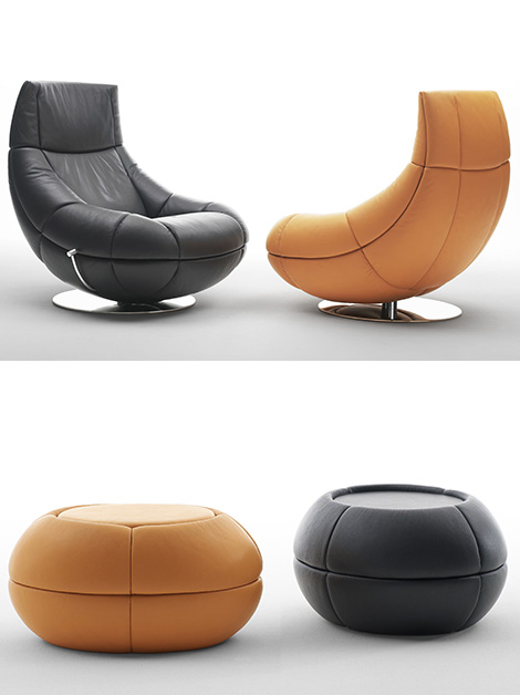 de sede armchair ds 166 puff Contemporary Armchair from De Sede   new DS 166 leather armchair