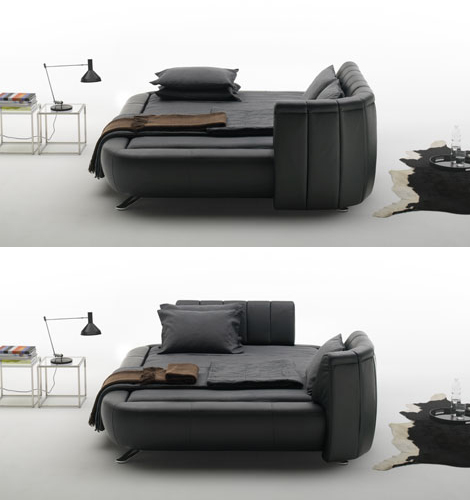 de sede ds 1164 bed 1 Modern Leather Beds   headboard design ideas by de Sede