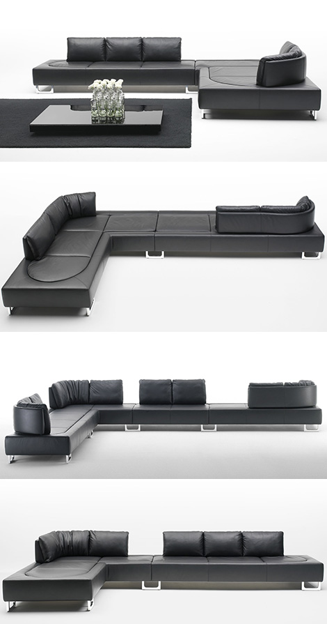 de sede ds 165 leather contemporary sofa Contemporary Sofa from De Sede   new DS 165 leather sofa