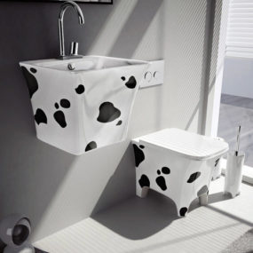 Fun Bathroom Fixtures by Artceram – Cow