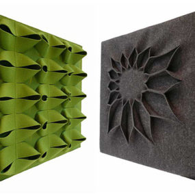 Decorative Acoustic Wall Panels by Anne Kyyro Quinn