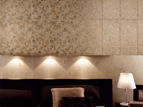 decorative marble tile walls flower pattern q bo 2 Decorative Marble Tile for Walls with Flower Pattern by Q BO