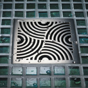 Decorative Square Shower Drains – four new drain covers by California Faucets