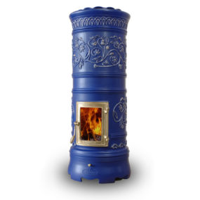 Decorative Wood Stove – round ceramic stoves by Castellamonte