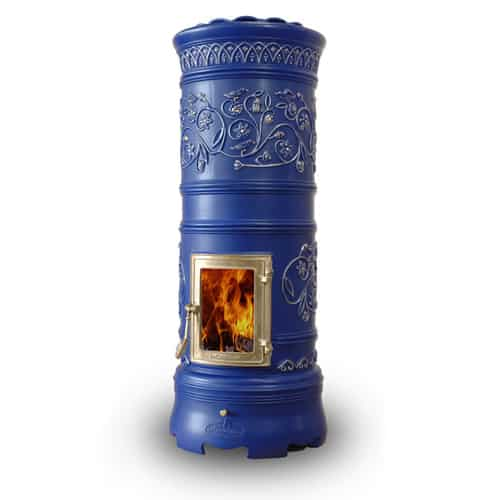 Decorative Wood Stove Castellamonte Rondo 1 Round Ceramic Stoves By