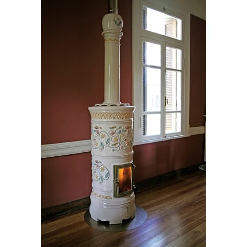 decorative wood stove castellamonte rondo 2 Decorative Wood Stove   round ceramic stoves by Castellamonte